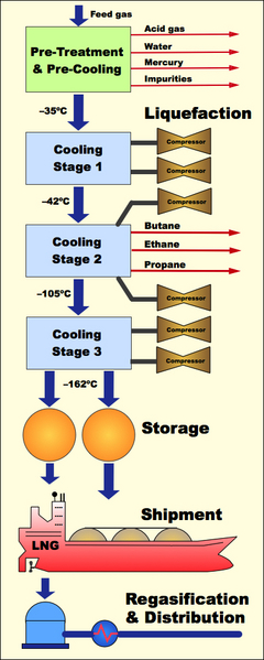 LNG Flow Diagram
