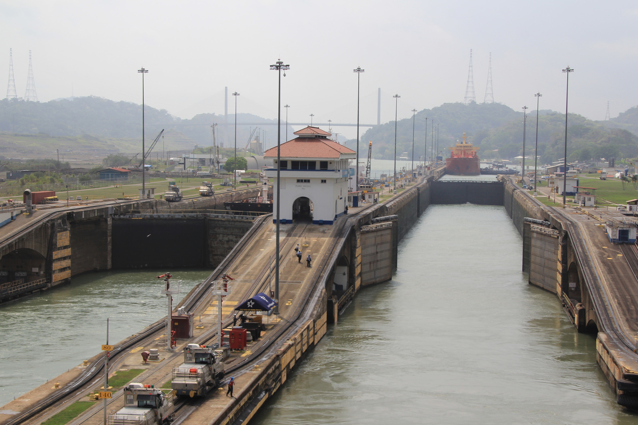 Panama Canal - Miraflores Locks, May 5, 2015