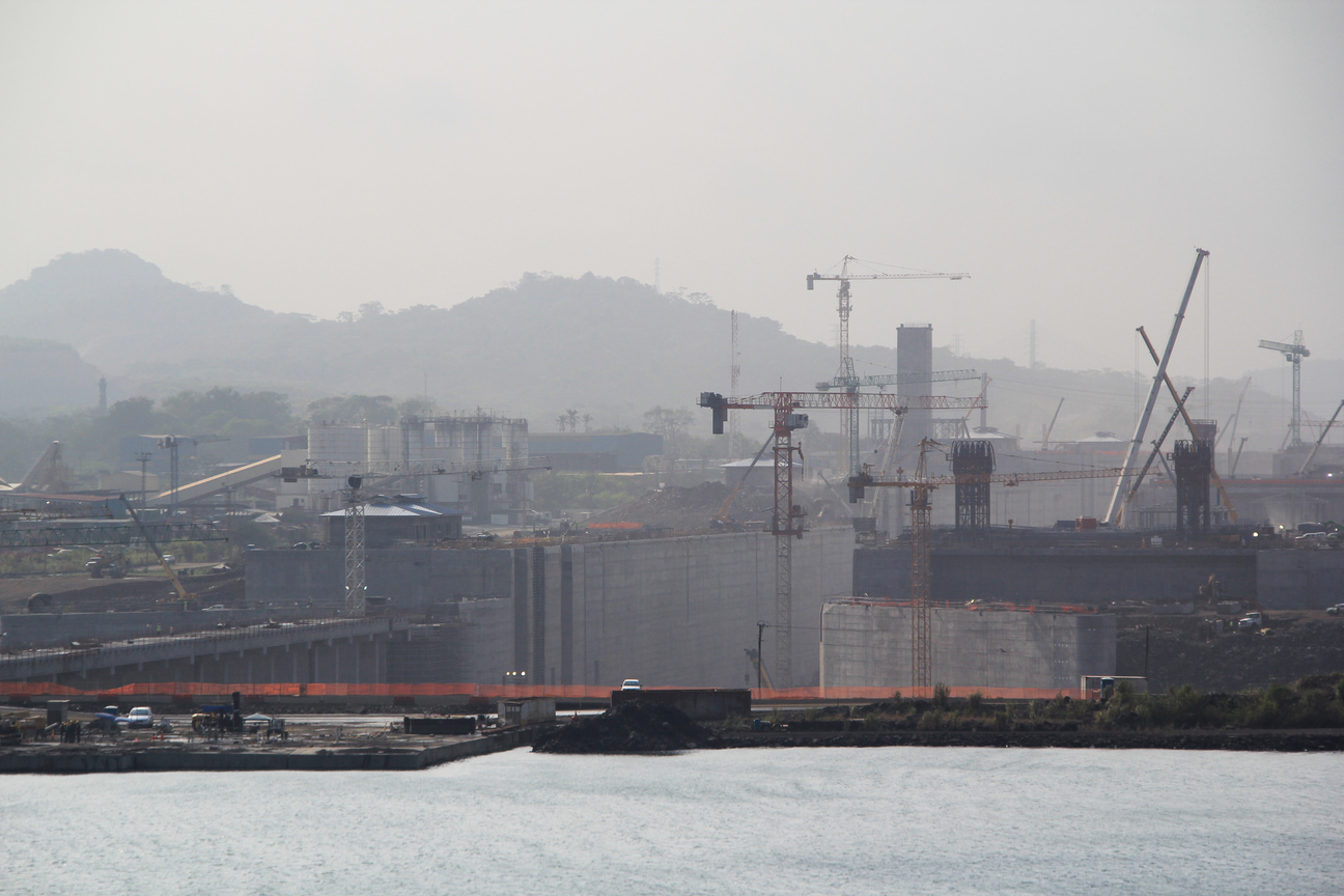 Panama Canal - construction of new Miraflores Locks, May 5, 2015