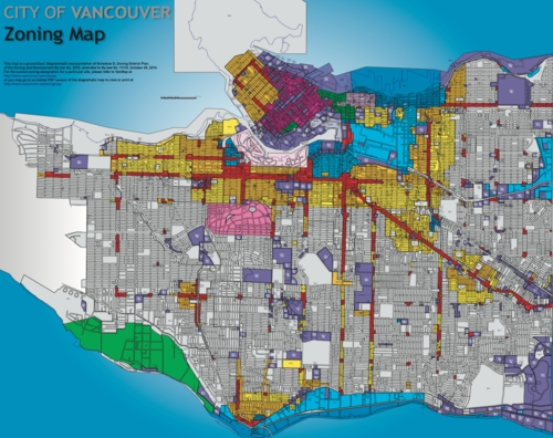 Zoning Map of Vancouver