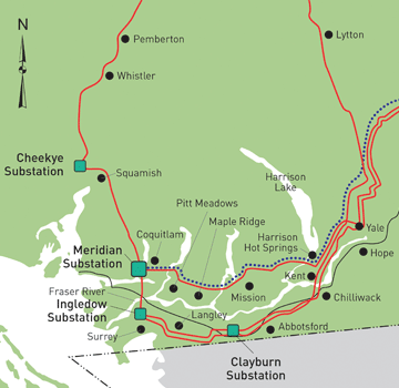 BC Hydro Map of ILM Transmission Line