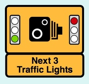 Road Warning Sign: Speed-on-Green and Red-Light Camera